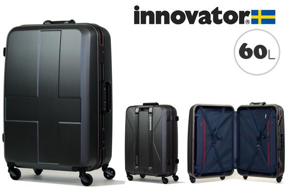 イノベーター スーツケース innovator ハードキャリー キャリーケース キャリーバック INV58 60L ブラッククロスカーボン(TSAロック ポリカーボネイト)