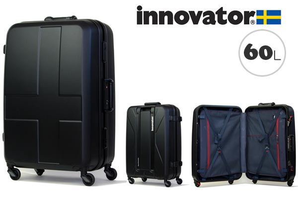 イノベーター スーツケース innovator ハードキャリー キャリーケース キャリーバック INV58 60L ステルスブラック(TSAロック ポリカーボネイト)