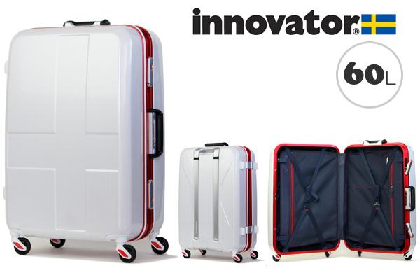 イノベーター スーツケース innovator ハードキャリー キャリーケース キャリーバック INV58 60L ホワイトクロスカーボン(TSAロック ポリカーボネイト)