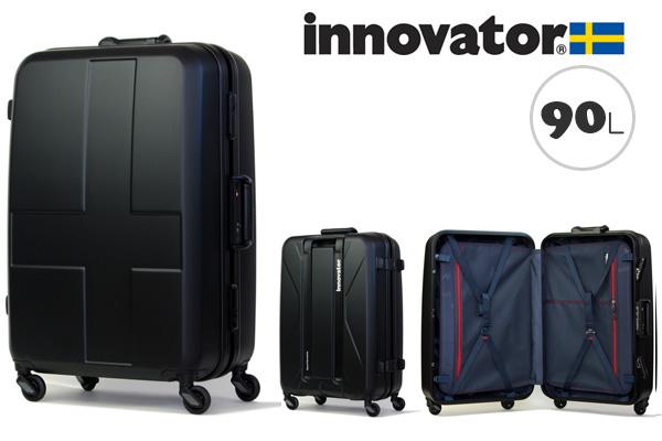 イノベーター スーツケース innovator ハードキャリー キャリーケース キャリーバック INV68 90L ステルスブラック(TSAロック ポリカーボネイト)