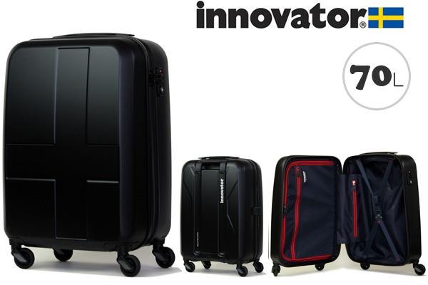 イノベーター スーツケース innovator ジッパータイプ ハードキャリー キャリーケース INV63 70L ステルスブラック(TSAロック ポリカーボネイト)