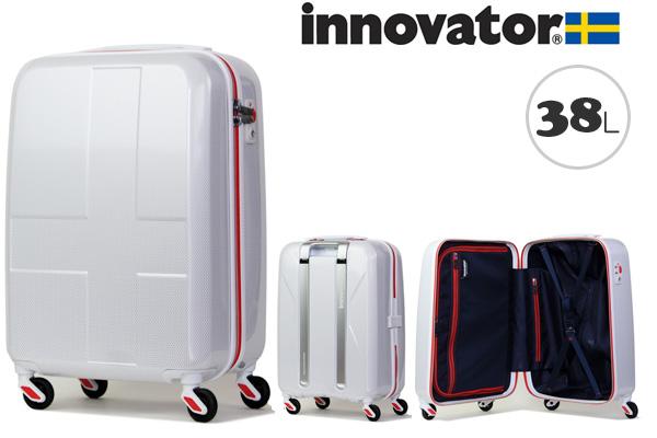 イノベーター スーツケース innovator ジッパータイプ ハードキャリー キャリーケース INV48 38L ホワイトクロスカーボン(TSAロック ポリカーボネイト)
