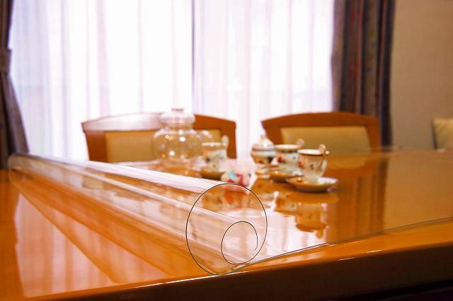 別注 透明 テーブルマット テーブルクロス (1mm厚)200X280以内 テーブルカバー デスクマット テーブル クロス ビニール 家具 キズ防止 傷防止