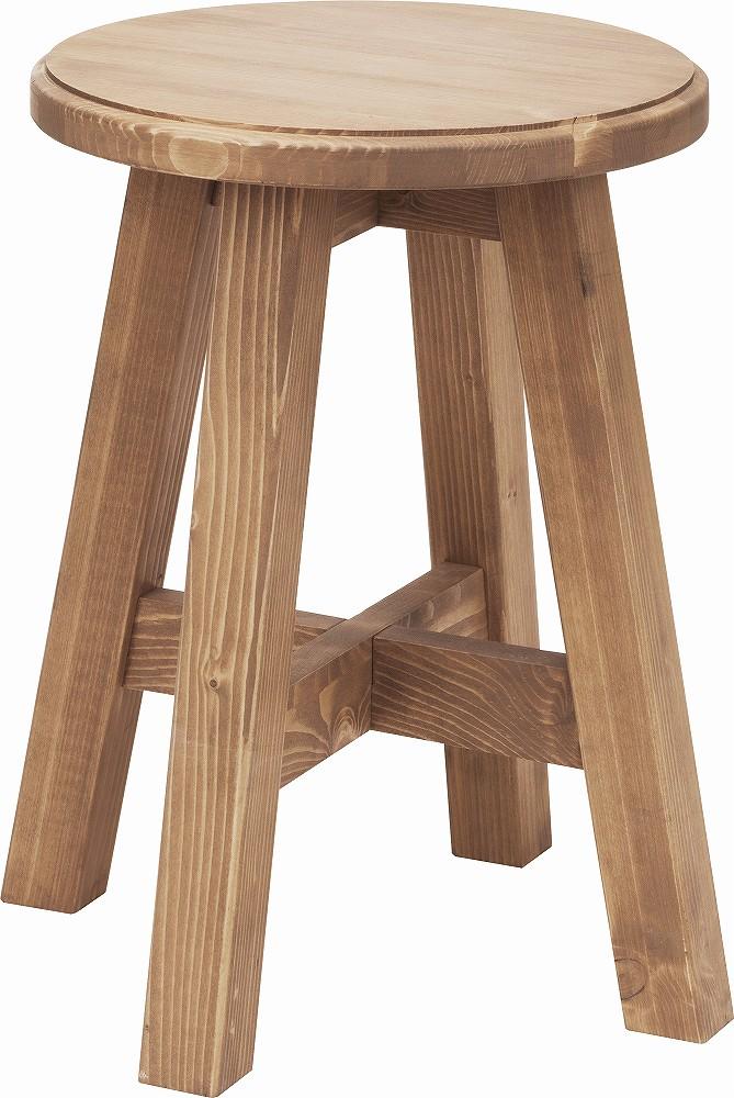 ガレット スツール 丸いす 椅子 天然木 カントリー シンプル 北欧 【送料無料】