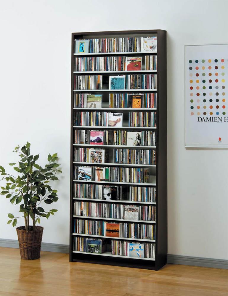 【送料無料】CDラック CD収納ラック DVDラック CD DVD 収納 棚 ラック 大容量 W80