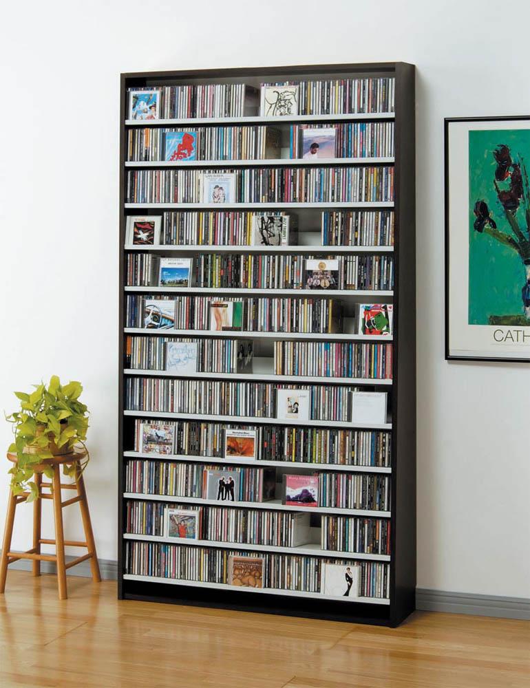 Cd Rack Storage Dvd Racks Shelf Capacity W109