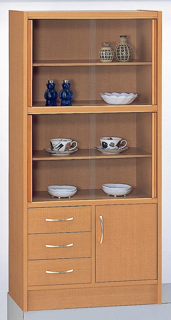 ミニ食器棚 コンパクト 60 食器棚 カップボード 棚 ミニ 完成品 日本製 【送料無料】メープル色欠品中
