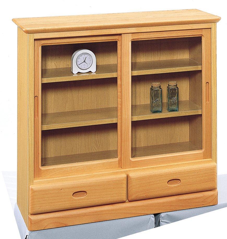 薄型 飾り棚 棚75 引き戸 和風 完成品 日本製【送料無料】【smtb-k】【ky】