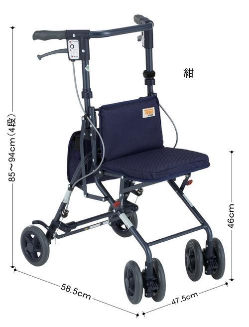 シルバーカー 老人車 歩行器 歩行車 ミドルサイズ 男性にも使いやすい 〈316114〉【送料無料】