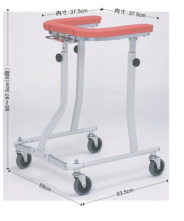 歩行器 歩行車 折りたたみ リバビリ 上肢支持型 4輪付き〈935007〉【送料無料】