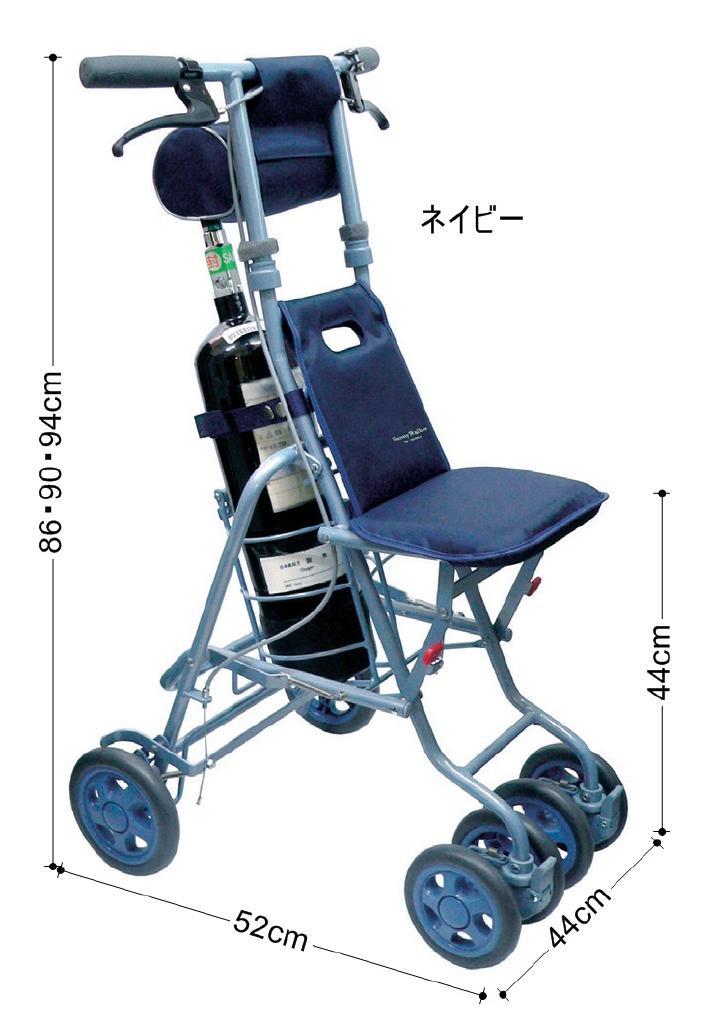 シルバーカー 老人車 歩行器 歩行車 折りたたみ コンパクト 軽量 酸素ボンベカー〈316120〉【送料無料】
