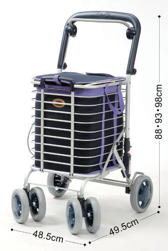 シルバーカー ショッピングカー 老人車 歩行器 歩行車 折りたたみ 大容量 〈374011〉【送料無料】