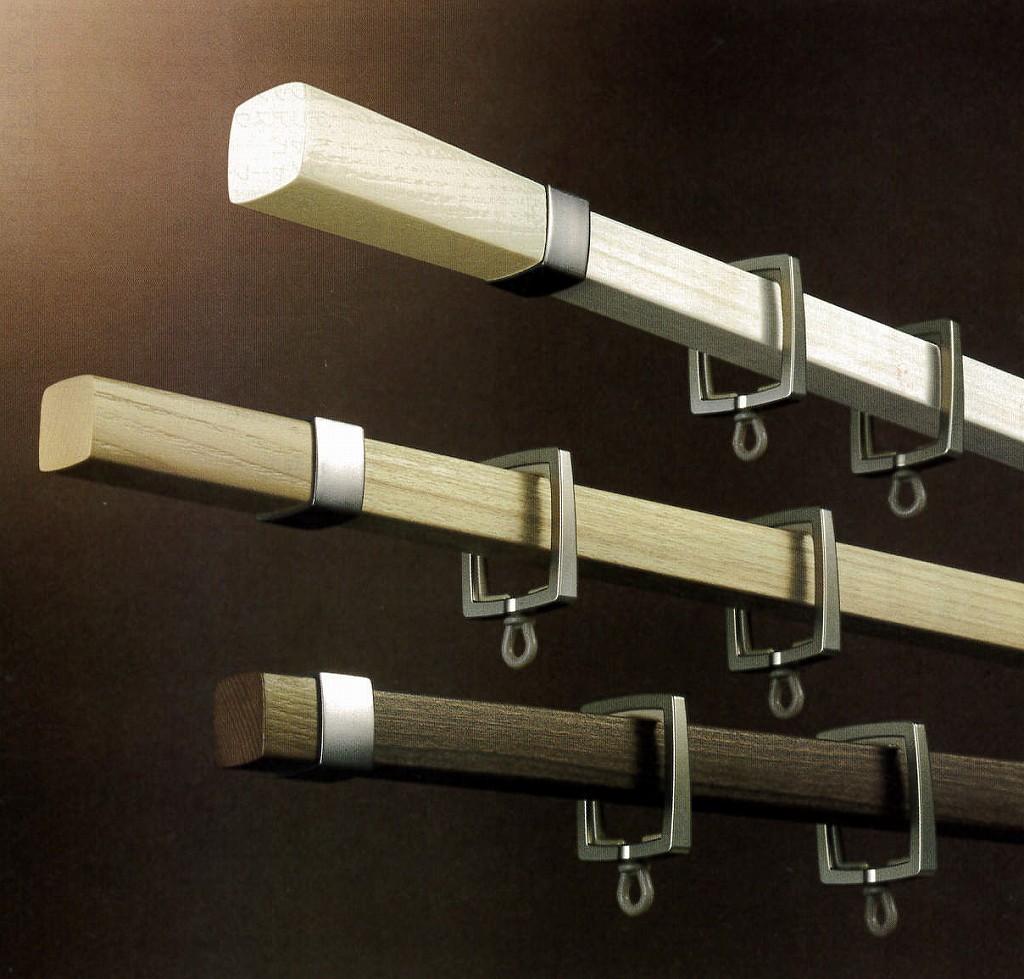 カーテンレール アルバーノ 1.2m 2.1m 3.1m シングル正面付けセット タチカワブラインド 木調 装飾レール