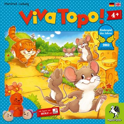 ねことねずみの大レース Viva Topo!【ドイツ語版(日本語説明書付き)】ペガサス社ボードゲーム【子どもお誕生日知育玩具プレゼントキッズ子供ゲーム木のおもちゃギフト出産祝い赤ちゃん男の子女の子】