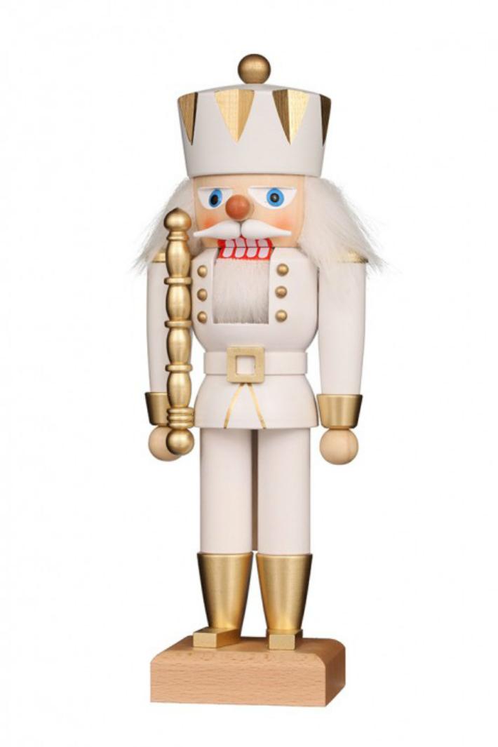 くるみ割り人形 NK 王様 白金 27cm