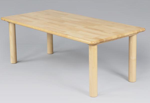 ブロック社 角テーブル 120×60cm 単品高さ33~51cm丸脚 【大型商品のため別途送料がかかります。※地域や台数により異なるため詳細は別途ご連絡】