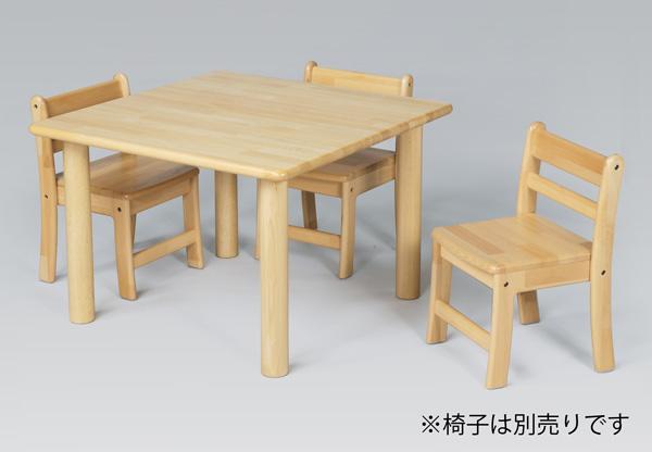 ブロック社 角テーブル 75cm 単品高さ30~51cm丸脚 【沖縄は別途送料がかかります。詳細はお問合せ下さい】