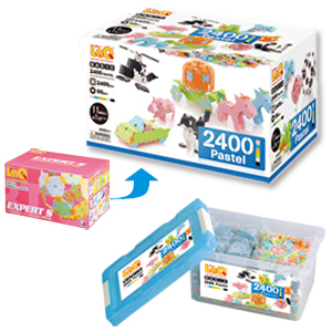 LaQ(ラキュー)Basic pastel2400(ベーシックパステル 2400)【おもちゃ歳から】【子どもお誕生日知育玩具プレゼントキッズ子供ゲーム木のおもちゃギフト出産祝い赤ちゃん男の子女の子】