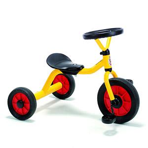 ウインザーペリカンデザイン三輪車 丸ハンドル 黄色