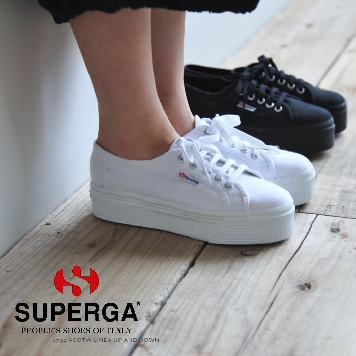 informazioni per 35bb1 72b6f [S0001L0]SUPERGA( Pelger) thick-soled sneakers /2790 ACOTW LINEA UP AND  DOWN A