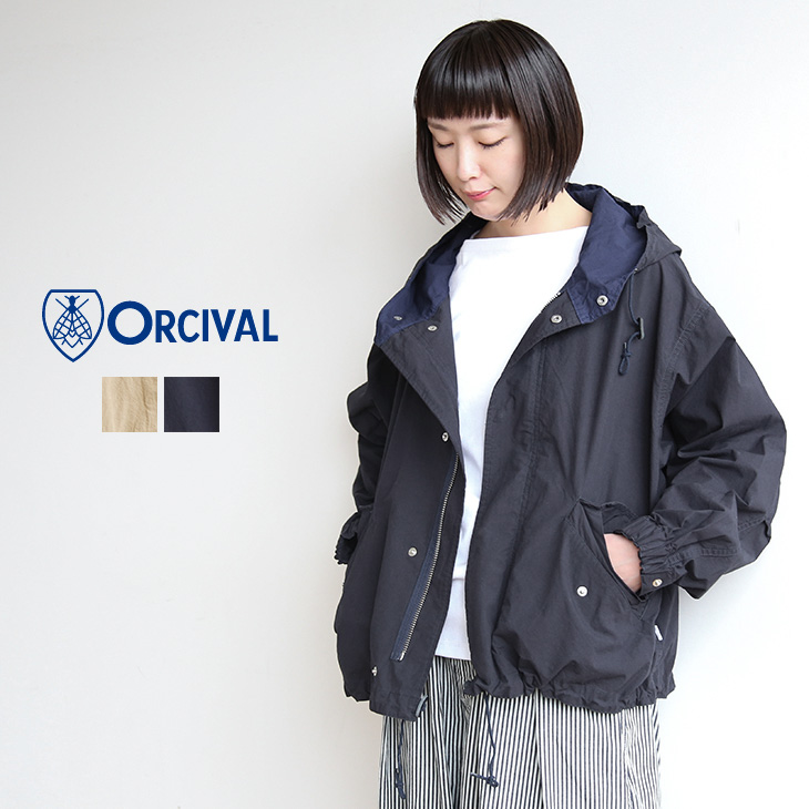 [RC-8052DCP]ORCIVAL(オーシバル/オーチバル)COTTON POPLIN フードジャケット【メール便対象外】【送料・代引き手数料無料】uAR【4日20時~11日1:59まで開催】