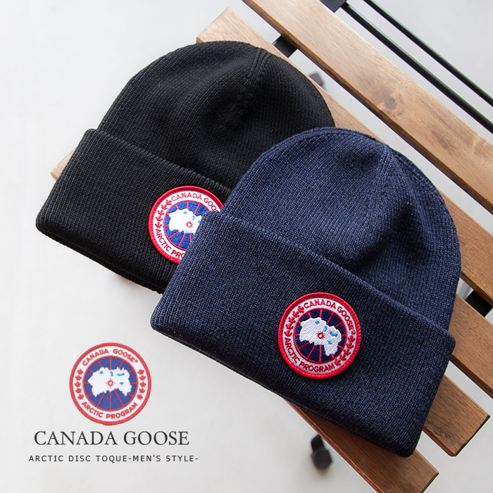 5fba3096782 ◇ 6936M CANADA GOOSE (Canadian goose) ARCTIC DISC TOQUE-MEN S STYLE-   アークティックディスクトゥーク (knit hat) RD