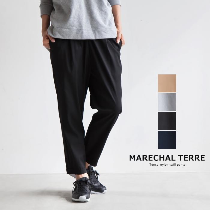 2018春夏新作 パンツ テル ウエストリボン 【送料無料】 #0205 ・ZMT181PT030 サスペンダー マルシャル Suspenders pants MARECHAL TERRE