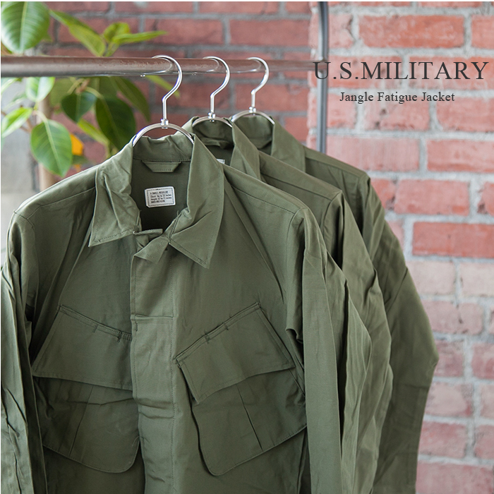 ▼[military111] US MILITARY NOS/ dead stock COMBAT TROPICAL JACKET/JUNGLE  FATIGUE (cotton tropical jacket / jungle F Teague) DD