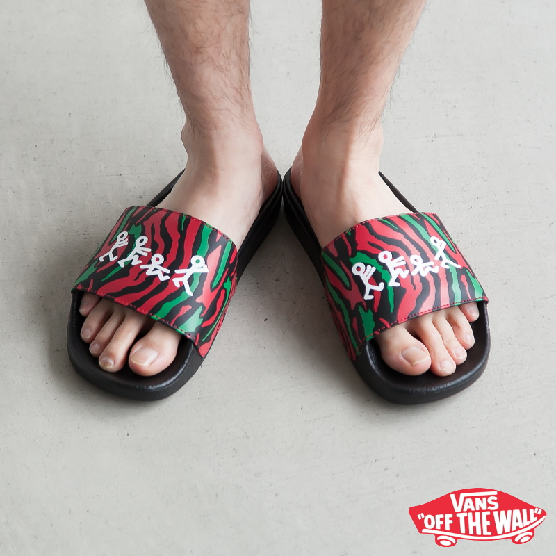 83e525ca ◇(VN0A33TYQ4B) VANS X A Tribe Called Quest/ATCQ (station wagons X a tribe  cold quest) Slide-ON (slide on / shower sandals) US