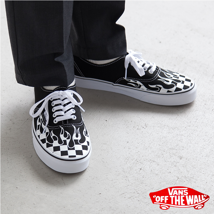 WOODY COMPANY   VN0A38EMRX8 VANS (vans) AUTHENTIC -CHECKER FLAME ... 126ad1088