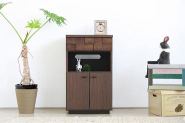 電話台 ファックス台 完成品 木製 スタイリッシュ 幅50cm ブラウン でんわ台 ファックス台 TEL台 キャビネット シェルフ リビング収納家具 リビングラック リビングボード 国産品 日本製