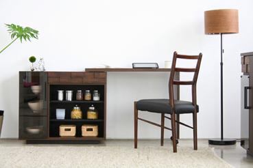 キッチンデスク 幅90cm 幅150cm ブラウン 茶 木製 スタイリッシュ キッチンデスク キッチンカウンター キッチンカウンター収納 キッチンキャビネット キッチン収納 ダイニングボード キッチンボード カップボード 国産品 日本製