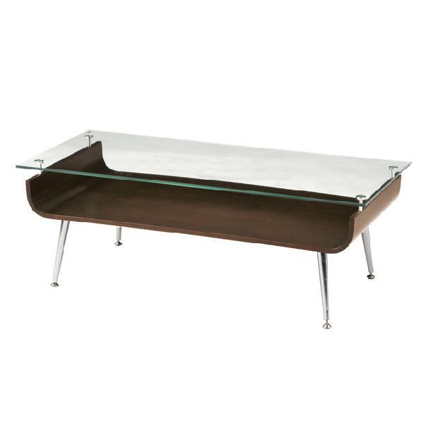 センターテーブル ガラステーブル カジュアル 96cm幅 ブラウン ローテーブル リビングテーブル コーヒーテーブル りびんぐてーぶる カフェテーブル