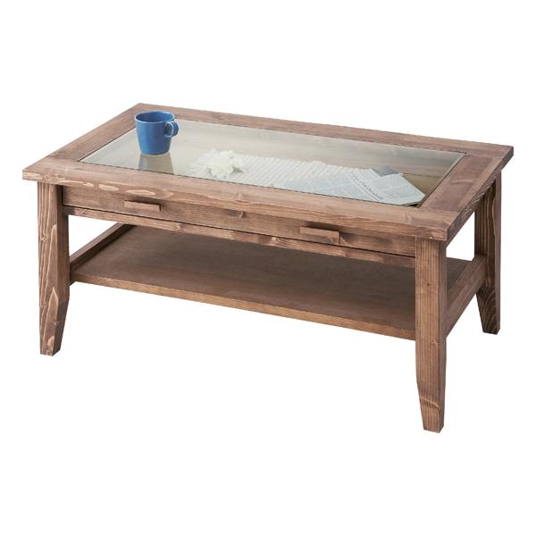 センターテーブル 幅90cm ブラウン 茶 ガラステーブル 北欧風 ローテーブル リビングテーブル コーヒーテーブル りびんぐてーぶる カフェテーブル