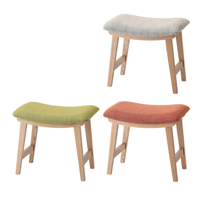 Beige Green Orange Fabric Upholstered Scandinavian Stool Singles Tools Chair 1 P Couch One Hung Stools Width 50 Cm And Sofa Seat Chairs
