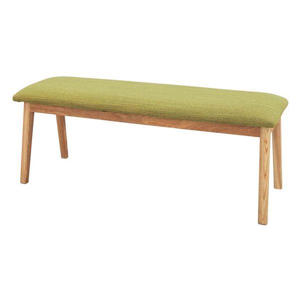 ダイニングベンチ ダイニングチェアー 木製 北欧風 グリーン 緑 ベンチチェアー ベンチタイプチェアー 2人用 2人掛け 二人用 二人掛け イス 椅子 イス 長椅子 スツール