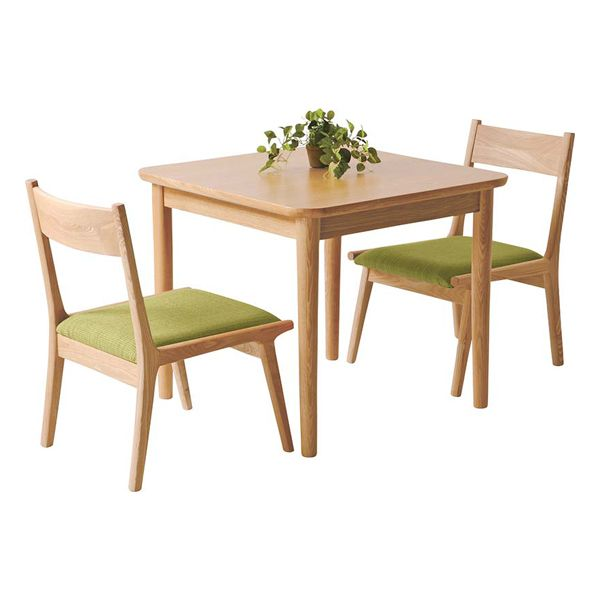 I Wear Two Dining Three Points Set Wooden North European Style Natural Midori Green Sets And The Room Dinette Cafe Table