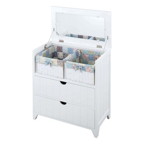 ドレッサー 化粧台 鏡台 どれっさー 木製 北欧風 ホワイト 白