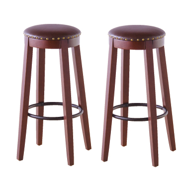 カウンターチェアー レトロモダン 2脚セット ブラウン バーチェアー バースツール カウンタースツール 椅子 いす イス ハイタイプチェアー
