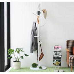 ポールハンガー 木製 カジュアル 幅45cm ホワイト 白 ナチュラル