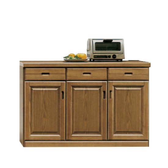キッチンカウンター 完成品 幅120cm 木製 モダン ソフトブラウン キッチン収納 食器棚 食器収納 ダイニングボード キッチンボード キッチンキャビネット 水屋