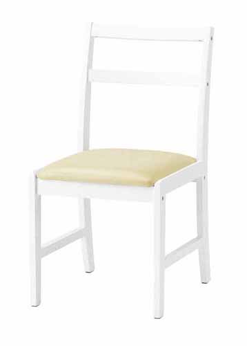 デスクチェアー 幅40cm ホワイト 白 木製 合皮製 北欧風 学習チェアー 学習イス 学習椅子 勉強用チェアー デスクチェアー デスク用チェアー キッズチェアー 子供用学習チェアー 子供用チェアー