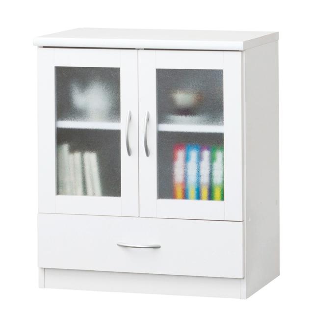 キャビネット シンプル 幅60cm ホワイト 白 リビング収納家具 サイドボード 飾り棚 飾棚 リビングボード 収納棚 リビングラック リビングシェルフ 収納ラック 食器棚 書棚 本棚