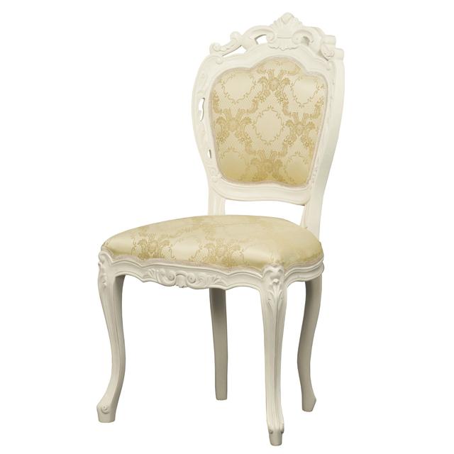 ダイニングチェアー ホワイト 白 木製 ヨーロッパ調 食堂椅子 食堂チェアー 食卓チェアー 食卓椅子 カウンターチェアー いす イス カフェチェアー
