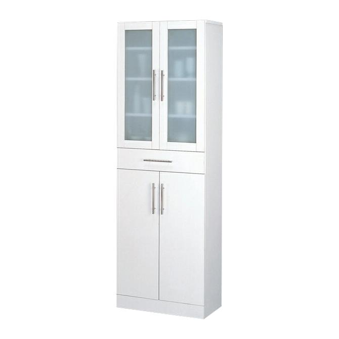 食器棚 幅60cm ダイニングボード キッチンボード 食器収納家具 キッチン収納棚 キッチンキャビネット 水屋 カップボード 食器収納棚 木製 シンプル ホワイト 白