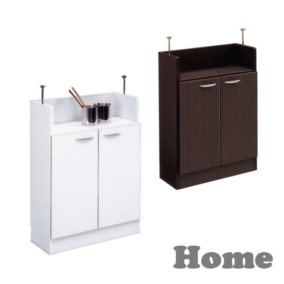 カウンター下収納 完成品 中央のみ 幅60cm ホワイト 白 木製 シンプル キッチンカウンター キッチンキャビネット キッチン収納 ダイニングボード キッチンボード 国産品 日本製