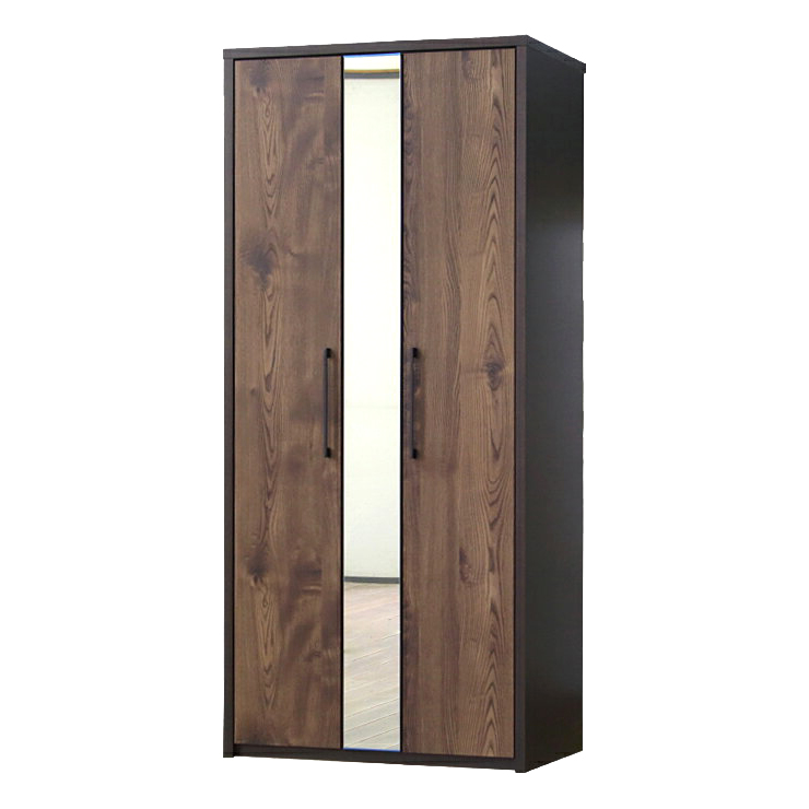... Wardrobe Wardrobe Closet Clothes Hanging Completed Mirror With Wooden  Scandinavian Width 80 Cm Domestic Japan ...