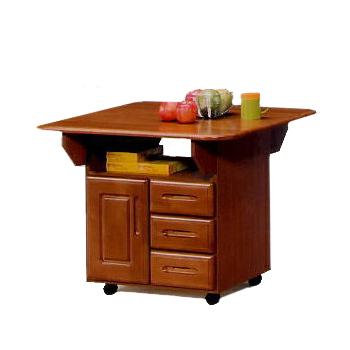 キッチンカウンター 完成品 幅90cm キャスター付き 木製 シック ブラウン キッチン収納 食器棚 食器収納 ダイニングボード キッチンボード キッチンキャビネット 水屋