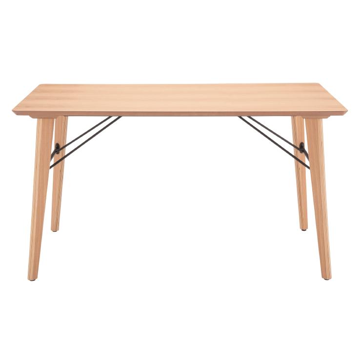 ダイニングテーブル 幅135cm 木製 4人用 4人掛け用 ナチュラル