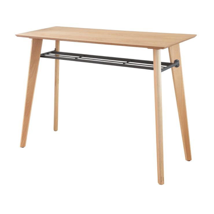 カウンターテーブル 幅120cm 木製 ハイタイプ ナチュラル